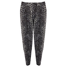 Buy Oasis Animal Print Tapered Trousers, Multi Online at johnlewis.com