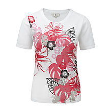 Buy CC Floral Print Top, Multi Online at johnlewis.com