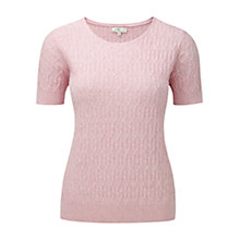 Buy CC Cable Knit Jumper, Pastel Pink Online at johnlewis.com