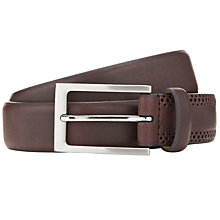 Buy John Lewis Leather Brogue Belt, Brown Online at johnlewis.com