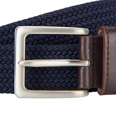 Buy John Lewis Plaited Leather Trim Web Belt Online at johnlewis.com