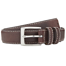 Buy John Lewis Stitch Detail Leather Belt Online at johnlewis.com