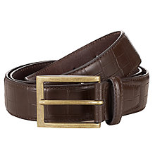 Buy John Lewis Moc Croc Leather Belt Online at johnlewis.com
