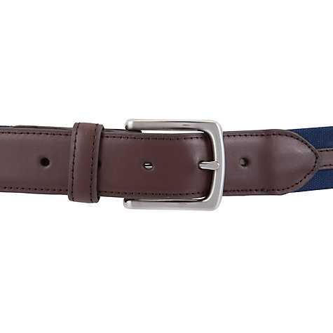 Buy John Lewis Canvas Leather Trim Belt Online at johnlewis.com