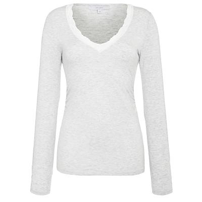 John Lewis Olivia Long Sleeve Top, Grey