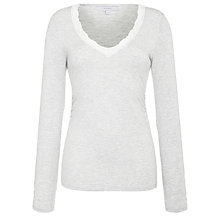 Buy John Lewis Olivia Long Sleeve Top, Grey Online at johnlewis.com