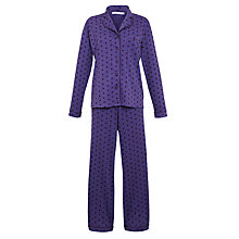 Buy John Lewis Spot Pyjama Set, Purple Online at johnlewis.com