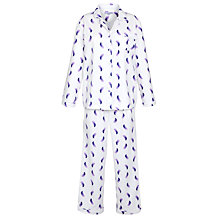 Buy John Lewis Feather Pyjama Set, Purple / White Online at johnlewis.com