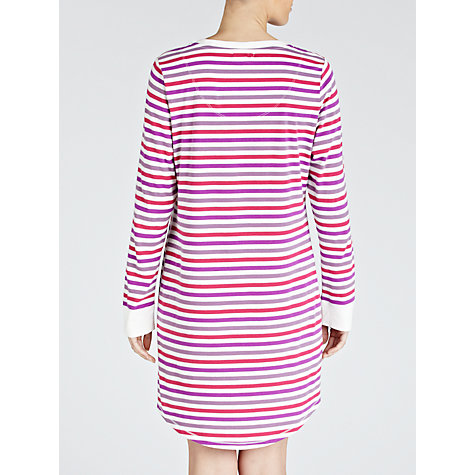 Buy John Lewis Stripe Nightdress, Pink / Multi Online at johnlewis.com