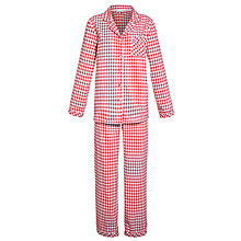 Buy John Lewis Check Pyjama Set, Pink/White Online at johnlewis.com