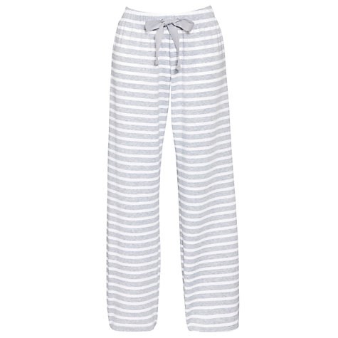 Buy John Lewis Loop Back Pyjama Bottoms, Grey Marl Online at johnlewis.com
