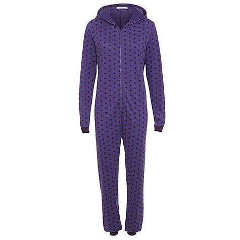 Buy John Lewis Spot Onesie, Purple Online at johnlewis.com