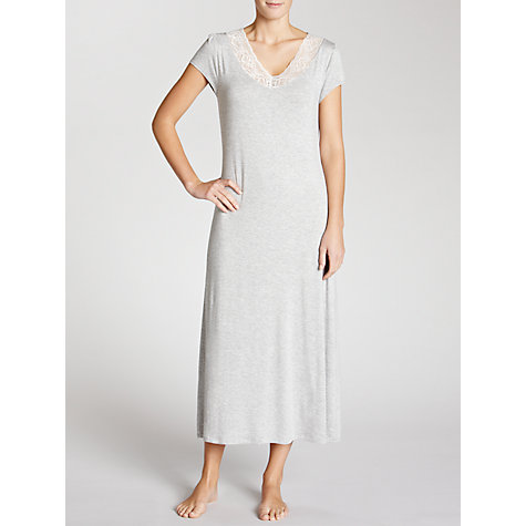 Buy John Lewis Olivia Long Nightdress, Grey Online at johnlewis.com