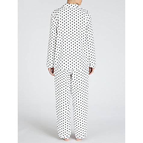 Buy John Lewis Spot Pyjama Set, Navy / White Online at johnlewis.com