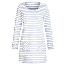 Buy John Lewis Loop Back Nightdress, Grey/White Online at johnlewis.com