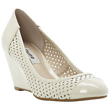 Buy Dune Antics Wedge Patent Court Shoes, Neutral Online at johnlewis.com