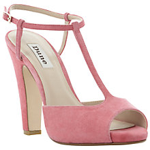 Buy Dune Haggerston Suede Sandals, Pink Online at johnlewis.com