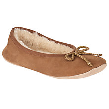 Buy John Lewis Angelina Ballerina Slippers, Camel Online at johnlewis.com