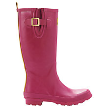 Buy Joules Field Wellington Boots, Magenta Online at johnlewis.com