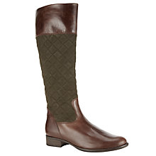Buy Gabor Gatsby Knee Boots, Brown/Olive Online at johnlewis.com