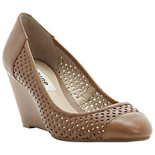 Buy Dune Antics Wedge Court Shoes, Neutral Online at johnlewis.com