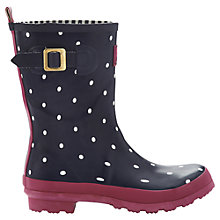 Buy Joules Molly Wellington Boots, Navy/White Online at johnlewis.com