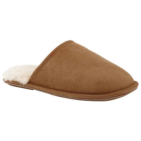 Buy John Lewis Dora Mule Slippers, Camel Online at johnlewis.com