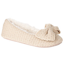Buy John Lewis Strauss Knitted Ballet Slippers, Cream Online at johnlewis.com