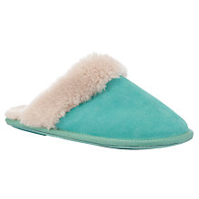 Buy John Lewis Vivaldi Mule Slippers, Teal Online at johnlewis.com