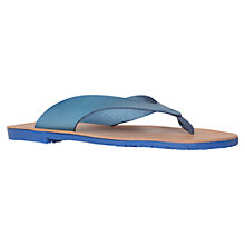 Buy KG by Kurt Geiger Fuse Leather Flip Flops Online at johnlewis.com