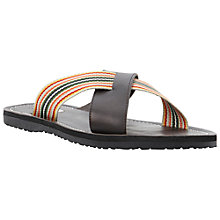 Buy Dune Indigo Cross Over Canvas and Leather Sandals Online at johnlewis.com