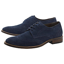 Buy Dune Beaumont Brogue Suede Derby Shoes Online at johnlewis.com