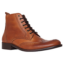 Buy KG by Kurt Geiger Dorset Leather Brogue Boots, Tan Online at johnlewis.com