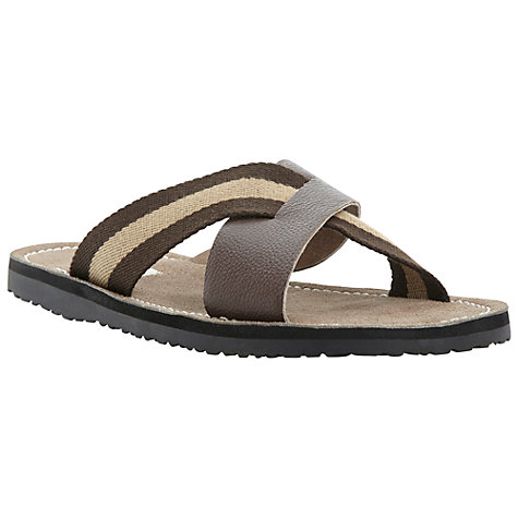Buy Dune Indiana Cross Over Canvas and Leather Sandals Online at johnlewis.com