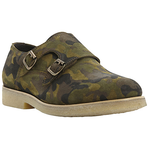 Buy Bertie Bowser Crepe Sole Double Buckle Monk Shoes Online at johnlewis.com