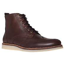 Buy KG by Kurt Geiger Muton Leather Brogue Boots Online at johnlewis.com