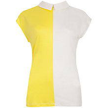 Buy Ted Baker Ethall Colour Block Top, Bright Yellow Online at johnlewis.com