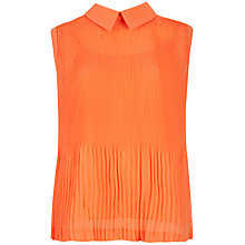 Buy Ted Baker Dantea Pleated Top, Light Orange Online at johnlewis.com