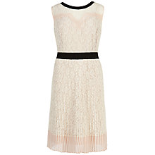 Buy Ted Baker Micro Pleat Sleeveless Dress, Natural Online at johnlewis.com