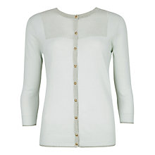 Buy Ted Baker Metallic Detail Cardigan, Mint Online at johnlewis.com