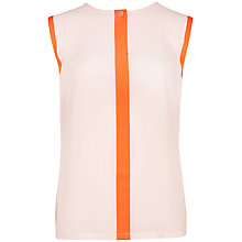 Buy Ted Baker Chicah Colour Block Top, Natural Online at johnlewis.com
