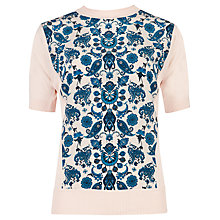 Buy Ted Baker Ionie Paisley Print Jumper, Natural Online at johnlewis.com