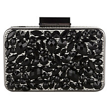 Buy Coast Jewelled Clutch Bag, Mono Online at johnlewis.com