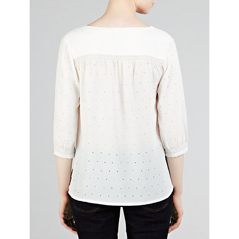 Buy Pyrus Bore Hole Embroidered Blouse, Salt Online at johnlewis.com