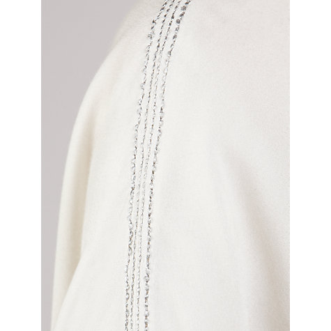 Buy Pyrus Lurex Cashmere Stitch Top, Salt Online at johnlewis.com