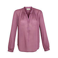 Buy Pyrus Gathered Neck Blouse, Sorbet Online at johnlewis.com