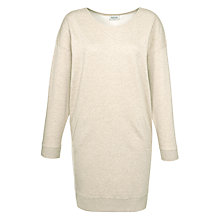Buy People Tree Nina Fleece Dress, Beige Melange Online at johnlewis.com
