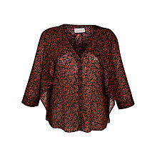 Buy Pyrus Crepe Printed Frill Blouse, Posy Print Online at johnlewis.com