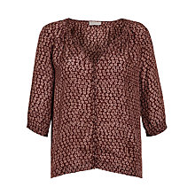 Buy Pyrus Habutai Blouse, Braille Burgundy Online at johnlewis.com