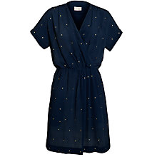 Buy Pyrus Crepe Wrap Dress, Marine Online at johnlewis.com